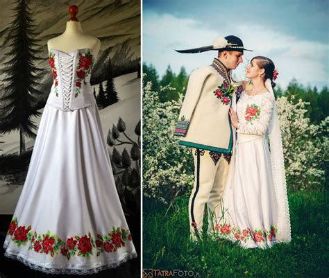 Lovely handpainted wedding dresses from Poland are