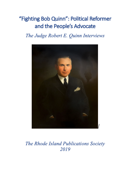 Robert E Quinn And The Political Revolution Of 1935 Online Review Of Rhode Island History