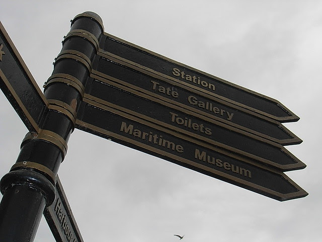St Ives signpost