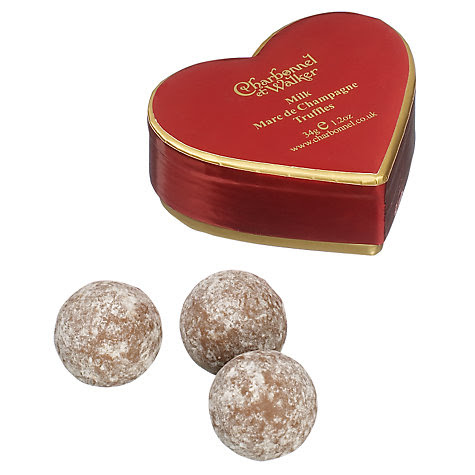 Buy Charbonnel et Walker Mini Red Heart Champagne Truffle, 34g Online at johnlewis.com