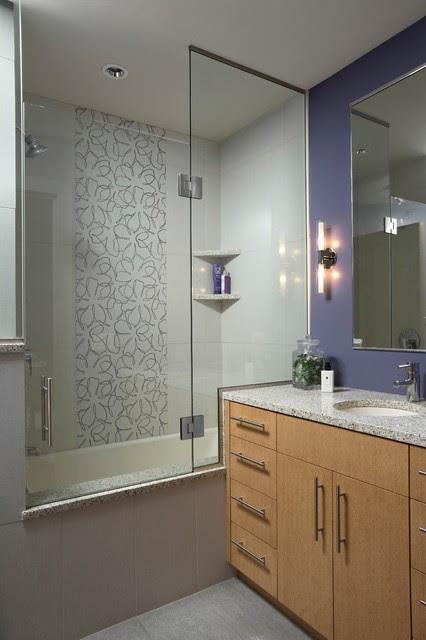 Modern Masterpiece Guest Bathroom - Contemporary ...
