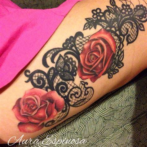 lace tattoo roses plenty tattoo images