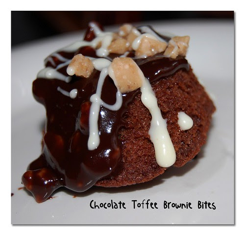 Chocolate Toffee Brownie Bites
