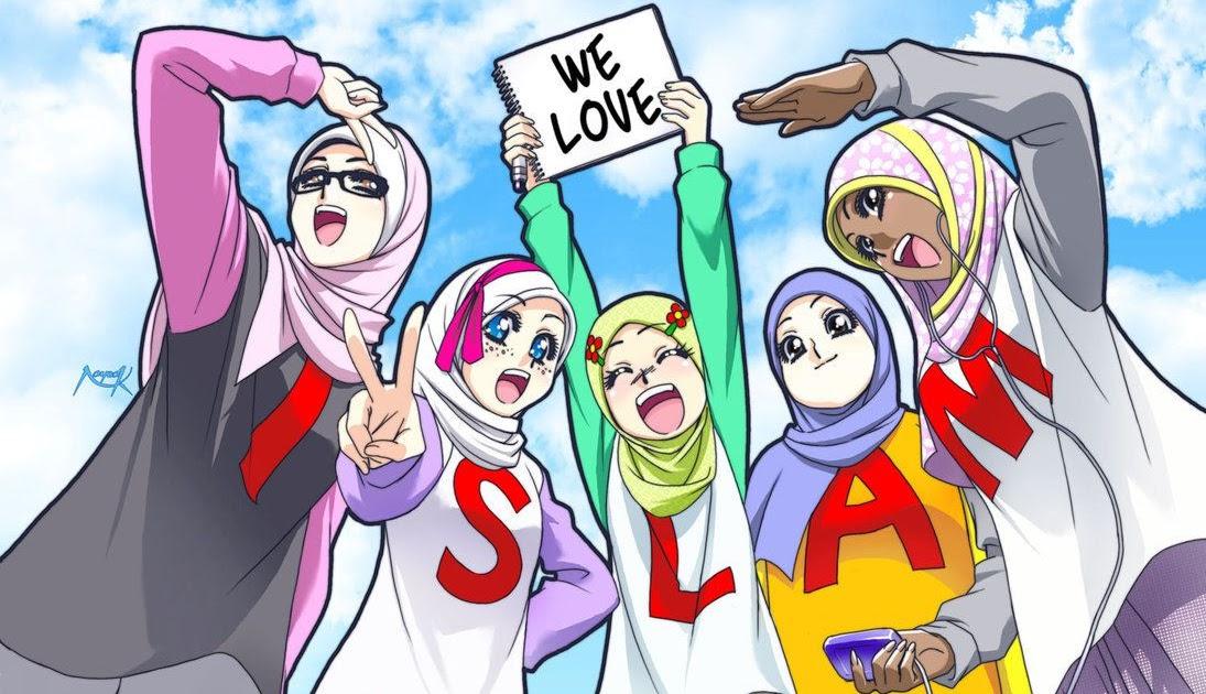 Gambar Kartun Berhijab Sahabat Keren Bestkartun