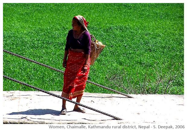 Women, Chaimalle, Kathmandu rural district, Nepal - images by Sunil Deepak