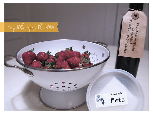 Day 108: Fresh Feta with Local Strawberries