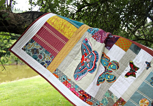 Applique Art Quilt -- Butterfly Details