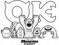 Jeux Et Coloriages A Imprimer Monstres Et Cie