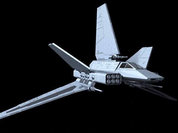 Another illustration of the Imperial-class Assault Gunboat from the STAR WARS: X-WING CD-ROM video game.