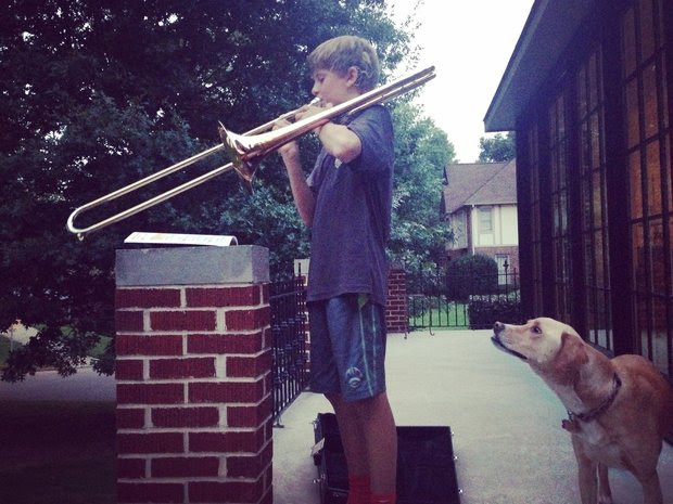 Will in Homewood has cochlear implants and plays the trombone in his school band. (Hanno van der Bijl)