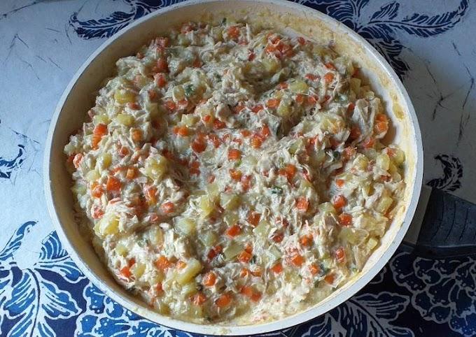 Resep Mudah Ragout Ayam Creamy (Isian Risoles) Lezat