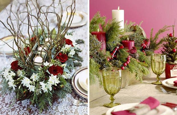 Decoracion centros de mesa de navidad con velas blogydeco - Centro mesa velas ...