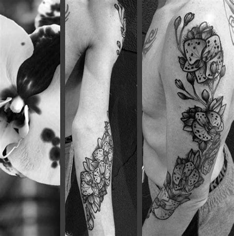 70 Orchid Tattoos For Men   Timeless Flower Design Ideas