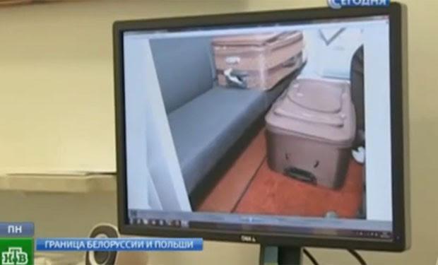 Francês levava sua esposa russa em mala (Foto: Reprodução/YouTube/Срочная Новость)