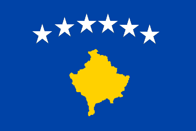 The Flag of Kosovo