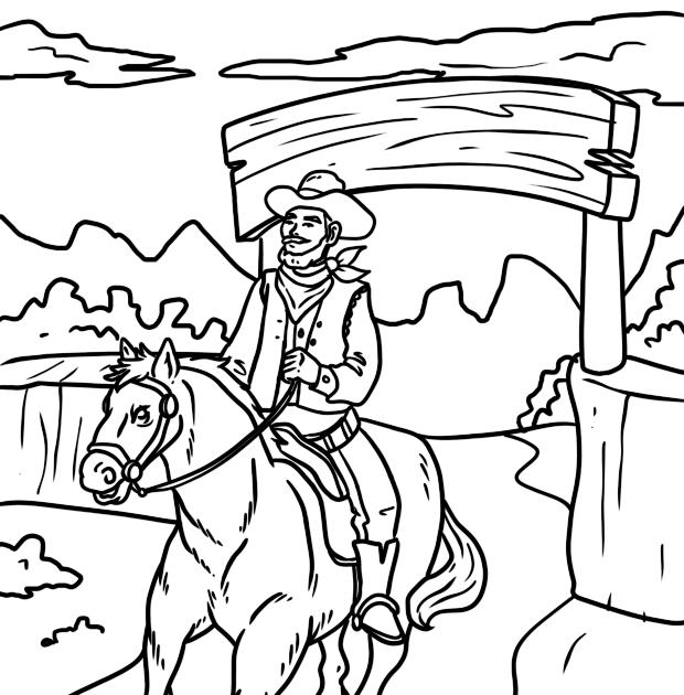 ausmalbilder cowboy indianer
