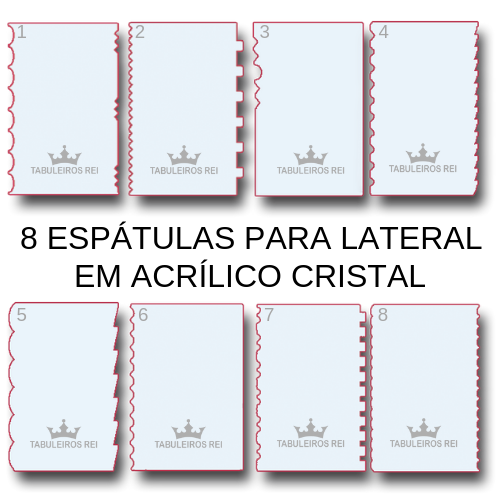Kit com 8 espátulas decorativas para chantilly