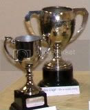 Awards Night Trophies, Two of the trophies awarded for Nottingham Writers' Club annual competitions
