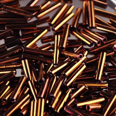 tb3b224 Japanese Seedbeads - #3 Toho Bugles - Rich Copper