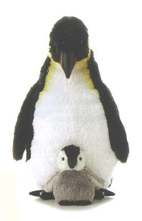 Emperor Mama And Baby Penguin