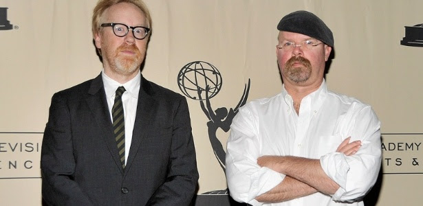 Adam Savage e Jamie Hyneman, do programa Mythbusters - Os Caçadores de Mitos