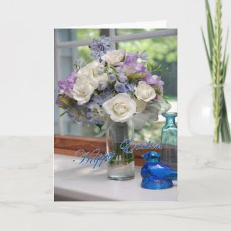 Bouquet Easter Card zazzle_card