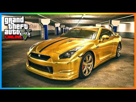 Game Play: GTA 5 gameplay MODDED CARS - Golden Chrome RARE