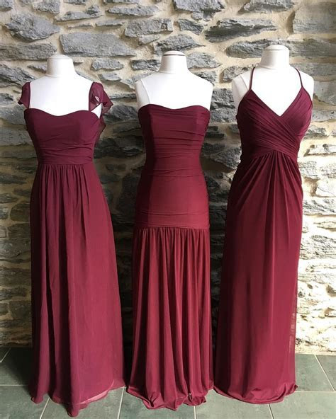 Care for some Wine? These long burgundy mesh and chiffon