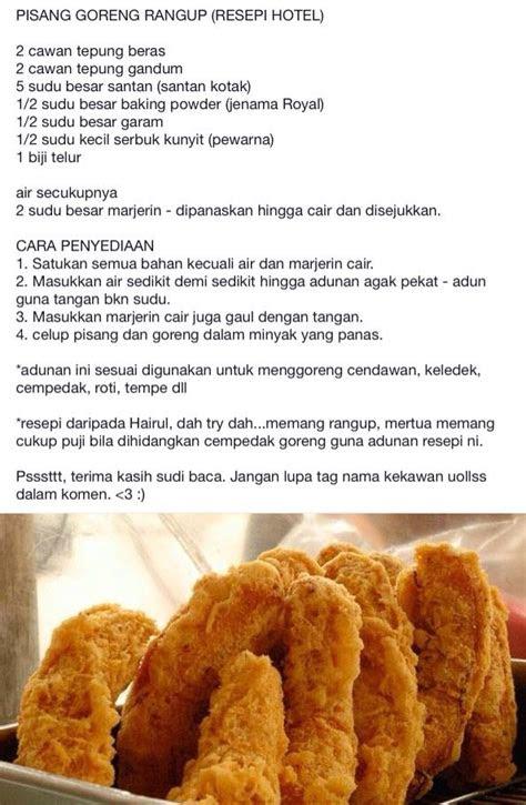 pisang goreng malaysia food resepi   banana