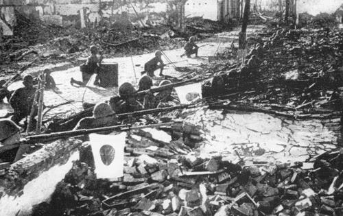 Armée japonaise à Shanghai en 1937