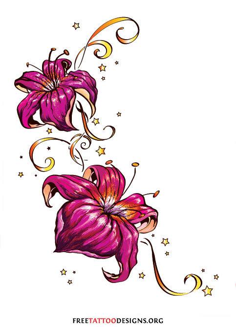 Flower Tattoo Gallery 70 Flower Designs