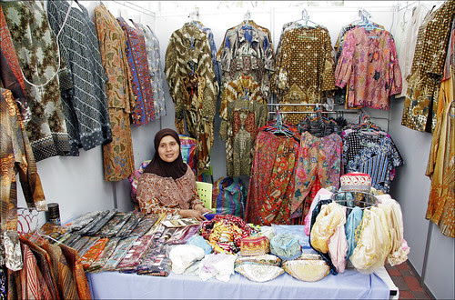 Clothes for sale at the Phuket Halal Expo