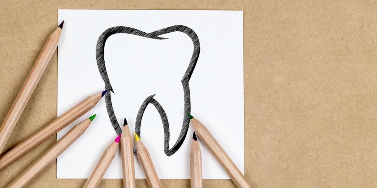 Bleistift Zahn Zeichnen - Nicht jedem muss man einen zahn