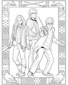 coloring pages of harry potter characters at getdrawings