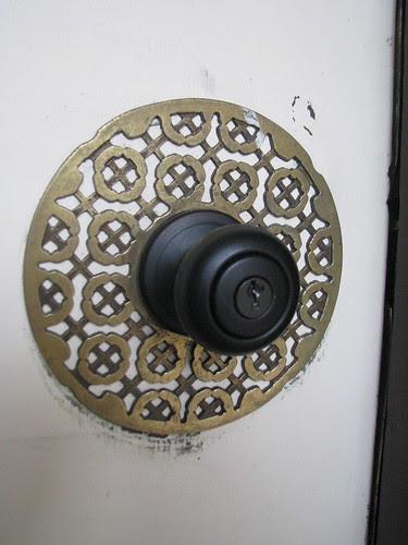Door knob surround