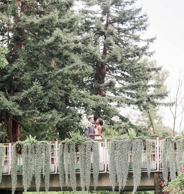 Elegant Purple And Gold Rose Garden Wedding