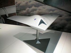 Model of BAE Taranis UAV on display at Farnbor...