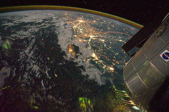 India And Pakistan Border Visible From Space