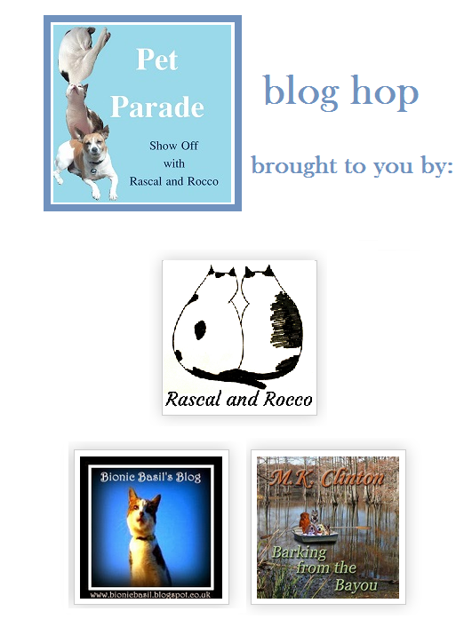Pet Parade blog hop for pet bloggers