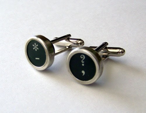 Vintage Typewriter Key Cufflinks Custom Cuff Links