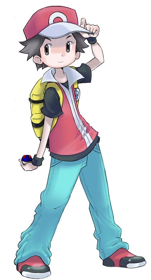 Pokemon fire red/leaf green male by Silphy on DeviantArt