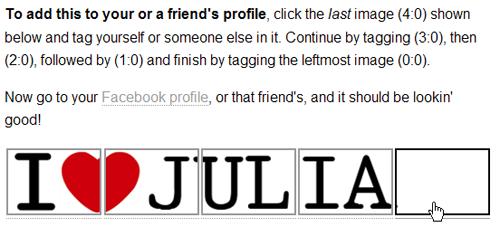 Profile Header I Love Julia Tag