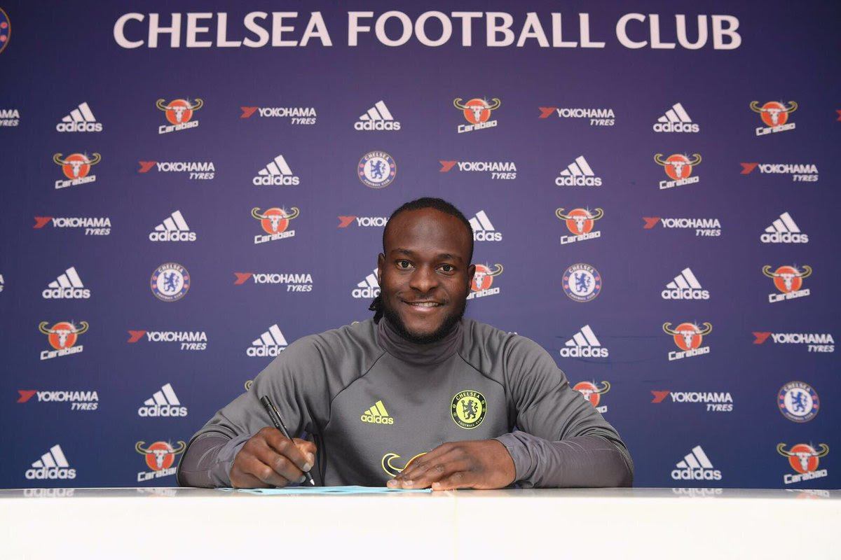 Image result for Victor Moses has signed a two-year contract extension which would keep him at Chelsea football club till 202