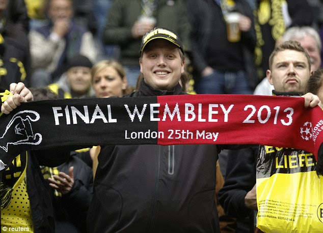 London calling: The Dortmund fans are ready for the final and a potential second Champions League title