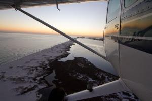 flying over Alabama coast