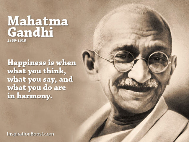 What Is Happiness Quote Of The Day From Mahatma Gandhi Starting