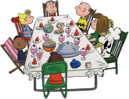 A Charlie Brown Thanksgiving - Table Scene