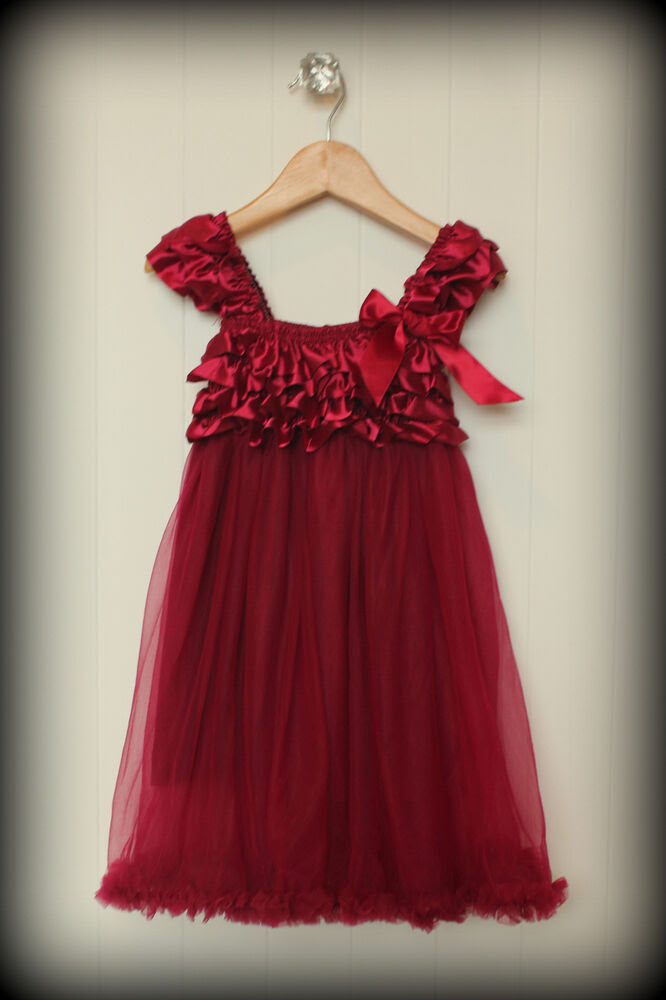 new redburgundy girl christmas dress sizes 1224 mo 2t