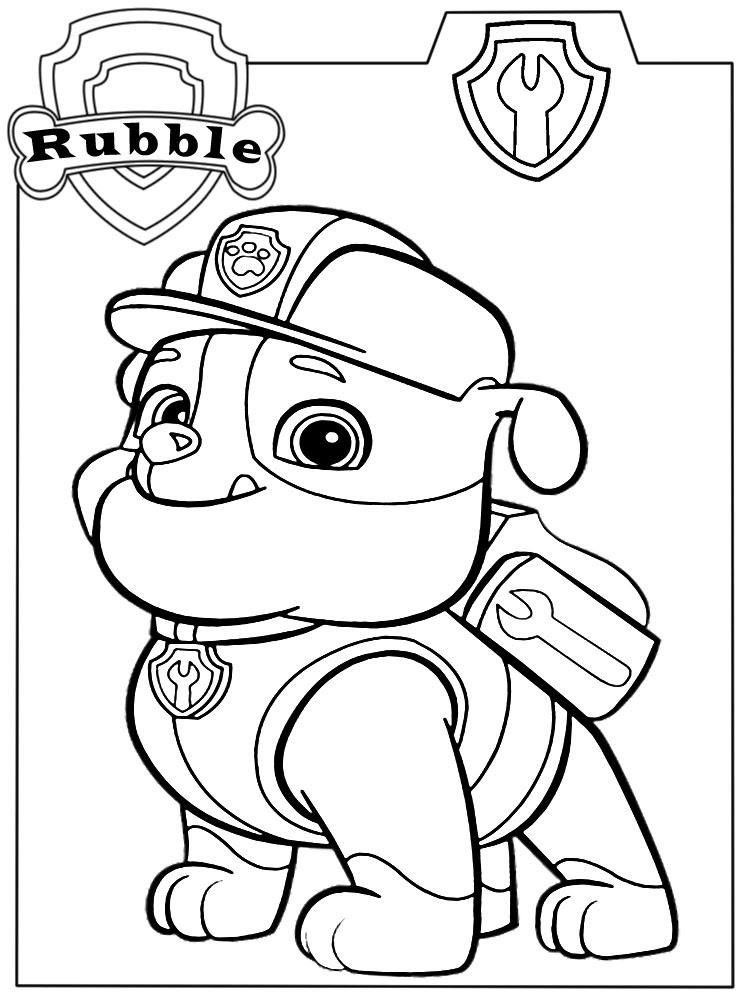 Descargamos Dibujos Para Colorear Paw Patrol