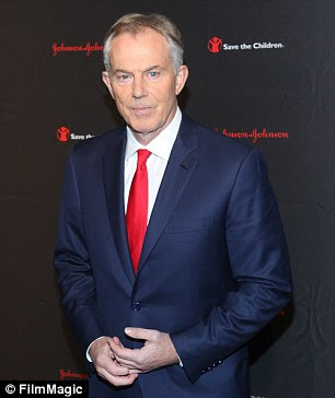 Tony Blair: his name is in Epstein's list of contacts